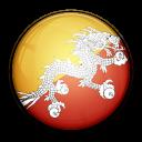 country, bhutan, flag icon