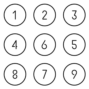 Integers icon sets preview
