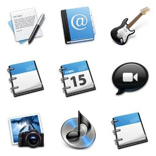 Black & Blue icon sets preview