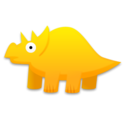 triceratops,dinosaur,cartoon icon