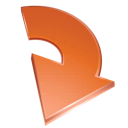 red, arrow icon