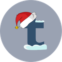 christmas, snow, tumblr, santa hat icon
