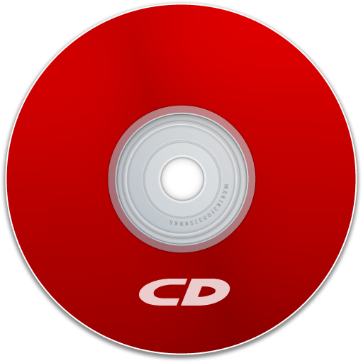 cd, disk, save, dvd, red, disc icon