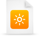 file, document, paper, orange icon