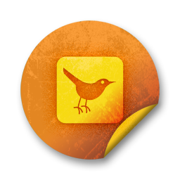 square, animal, sn, social network, twitter, bird, social icon