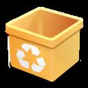 trash yellow empty icon