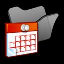 Folder black scheduled tasks icon