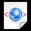 application, xml, xhtml icon