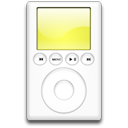 yellow, ipod, mp3 player icon