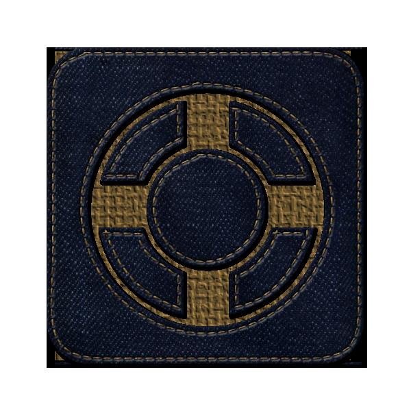 denim, social, jean, square, designfloat icon
