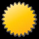 yellow, label icon