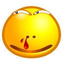 smiley, blood icon