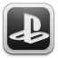 white, playstation icon