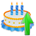 Birthday, Cake, Up icon