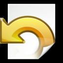 Actions document revert icon