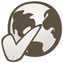 Globe connected icon
