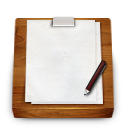 Notepad, Wooden icon