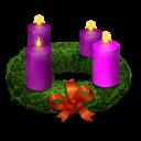wreath, advent, christmas icon