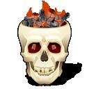 flaming skull icon