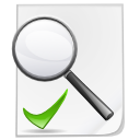 search, check, file icon