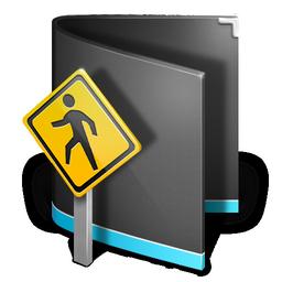 black, public, folder icon