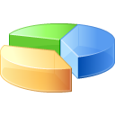 statistics, analysis, graph, pie, chart icon