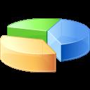 statistics, analysis, graph, pie, chart icon