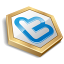 twitter hexa yellow icon