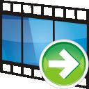 Movie, Next, Track icon