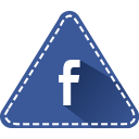 app, fb, social, triangle, colorful, facebook, hexagon icon