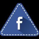 app, fb, social, triangle, colorful, facebook, hexagon icon