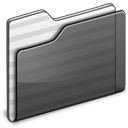 black, generic, folder icon