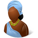 female, african icon