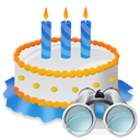 Birthday, Cake, Search icon