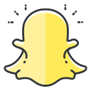 network, media, social, snapchat, communication icon