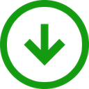 direction, down, arrow, trend, positive icon