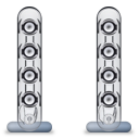 soundsticks, sound, voice, only, speaker, harman, kardon icon