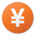 Currency, Red, Yuan icon