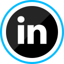 social, corporate, media, linkedin, logo icon
