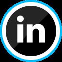 social, corporate, media, linkedin, logo icon