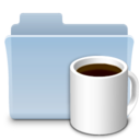 Coffee Folder Badged icon