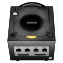 gamecube, black icon