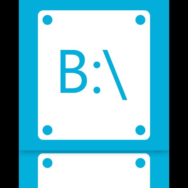 b, mirror icon