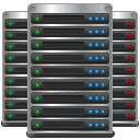 cloud computing, servers, datacenter, data center, hosting, server icon