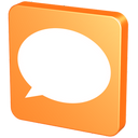 tangerine, forum, bubble, pin, comments, orange, balloon, help, talk, tack, chat, hint, knob, comment, snap, baloon, about, mandarin, mandarine, speech icon