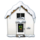 snowy, house icon