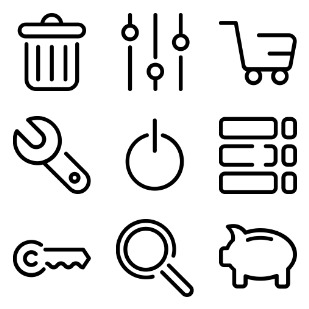 25 UI icon sets preview