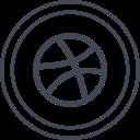 media, logo, social, dribbble icon