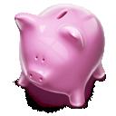 Money, Piggybank, Pink icon
