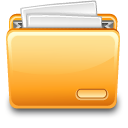 file, paper, with, document, folder icon